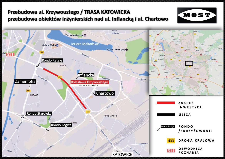 mapka estakada Katowicka - Poznań